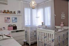Quartos de bebês gêmeos - veja 20 modelos lindos + dicas! - DecorSalteado