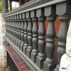 These beautifully painted spindles/balusters are our #8 pattern.