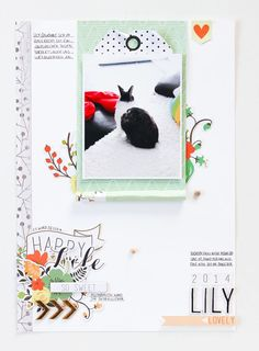 #papercraft #scrapbook #layout by Janna Werner