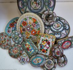 Love my vintage micromosaics - I make jewelry out of them :)