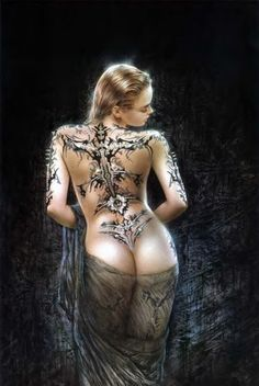 Ive had a few questions about this print by Luis Royo, for those interested if you go to my 'art club' board you'll see it next to a pin of a girl with the print as an impressive full back piece ok? Thanks :)