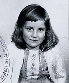 Diana in a childhood passport photo