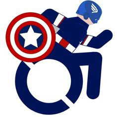 Wheelchair Captain America.>>> See it. Believe it. Do it. Watch thousands of spinal cord injury videos at SPINALpedia.com