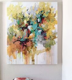 Underneath the Cottonwoods 54x44 #santafe #abstract #abstractart…