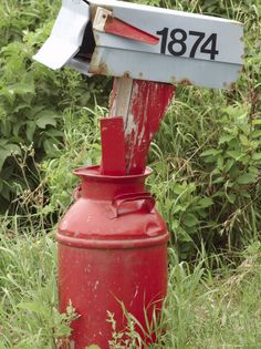 Milk Can Mail Box