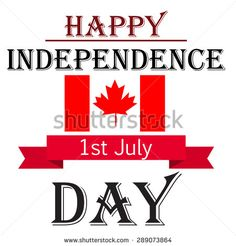 Vector illustration of a awesome greeting card for Canada Independence Day.