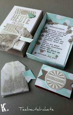 von Hand - von Herzen - von mir: Teebeutelrakete...