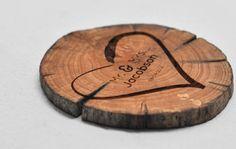 150 Wedding Favours - Driftwood - Wood Coasters - Engraved - Wood Slice…