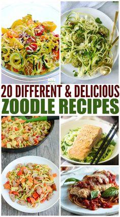 20 Zoodle Recipes zucchini recipes are more fun with zoodles! 20 Zoodle Recipes zucchini recipes are more fun with zoodles! Spiral Vegetable Recipes, Veggie Recipes, Diet Recipes, Cooking Recipes, Healthy Recipes, Zucchini Noodle Recipes, Zucchini Spirals Recipes, Vegetarian Zoodle Recipes, Delicious Recipes