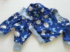 Erstlingsset Blau Schafe Gr. 50/56 von MiniDreams auf DaWanda.com