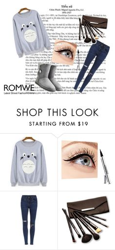 """""""ROMWE 5"""" by natacharizk on Polyvore featuring Luminess Air, Borghese and UGG Australia"""