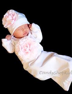 White Flower Baby Infant Outfit  I want this to bring Savannah home in