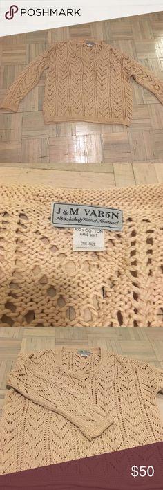 Vintage hand knit sweater Vintage oversized hand knit sweater. Great condition. Sweaters V-Necks