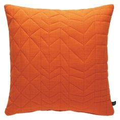 MEERA Orange quilted cushion 45 x 45cm