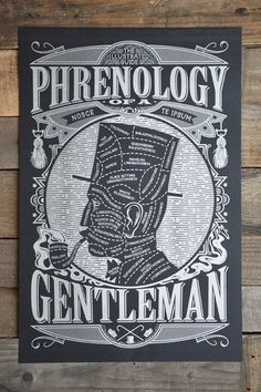 """""""Phrenology of a Gentleman"""" and Other Vintage-Inspired Manly Posters and T-Shirts by Maiden Voyage   Man Made DIY   Crafts for Men   Keywords: poster, print, humor, man"""