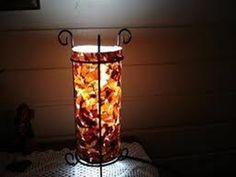 presente 5- casca de cebola com cola branca por fora do vidro da vela