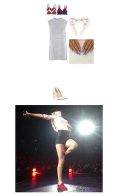 """""""Taylor Swift concert"""" by c-ookie ❤ liked on Polyvore featuring Topshop, Christian Louboutin and Floss Gloss"""