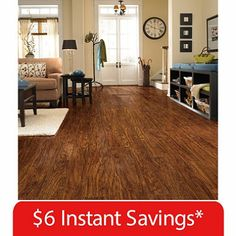 Sample   Traditional Living Premium Laminate Flooring   Handscraped Oak    Remodeling House Ideas   Pinterest