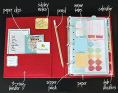 mini binder | Ideas: Organizing with Binders                                                                                                                                                     More