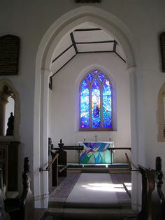 East window and Isobel Clover frontal, Chillesford St Peter, Suffolk | Flickr - Photo Sharing!