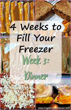 In Week 3 of this 4 Weeks to Fill Your Freezer challenge, you'll make quick and . - In Week 3 of this 4 Weeks to Fill Your Freezer challenge, you'll make quick and simple freezer me - Budget Freezer Meals, Freezer Friendly Meals, Make Ahead Freezer Meals, Freezer Recipes, Freezer Dinner, Frugal Meals, Freezer Desserts, Vegetarian Freezer Meals, Bulk Cooking