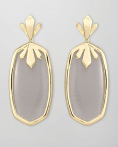 Must have! Dillon Earrings, Slate by Kendra Scott at Neiman Marcus.