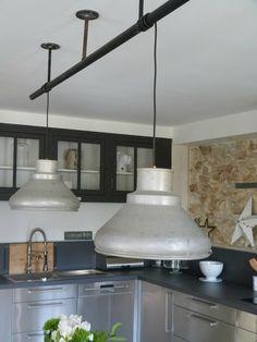 CUISINES INDUSTRIELLES : SUSPENSIONS LAMPES