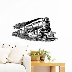 Wall Decals Train Locomotive Nursery Boy Kids Children Room Art Bedroom Vinyl Sticker Wall Decor Murals Wall Decal: Amazon.co.uk: Kitchen & Home