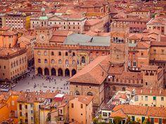 Piazza Maggiore, Bologna, Italy. http://www.lj.travel/home.cfm #legendaryjourneys #travel
