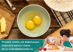 Primele retete cu ou pentru bebelusi Baba, Baby Food Recipes, Breakfast, Recipes For Baby Food, Morning Coffee