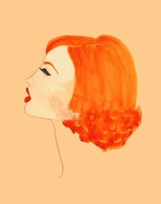 Pretty profile. Art by Peggy Wolf Design via Etsy.