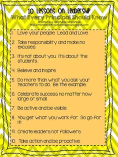 Principal Principles: 10 Lessons on Leadership: What Every Principal Should Know