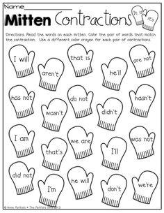 Winter Math and Literacy Packet (First Grade) Teaching Grammar, Teaching Language Arts, Classroom Language, Student Teaching, Teaching Reading, Teaching English, Learning, 2nd Grade Ela, 2nd Grade Writing