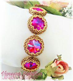 Bracciale Rivoli incastonati Available / Disponibili  https://vanessasabstierjewelry.com/listing/541216313/brachalet-lightsiam