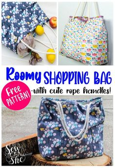 adorable Easy shopping bag sewing pattern from sewcanshe