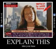 It's pretty hard to 'accidentally' announce that a skyscraper collapsed from structural failure, before it happens....unless that reporter is reading a script. Time To Awaken To The Truth!