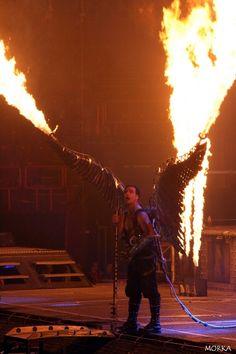 Rammstein, 2009-12-09 (Bercy, Paris, France).  #concert #live #fire http://www.morka.fr