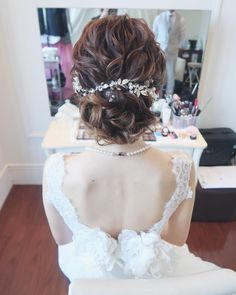 From Parts Unknown Wedding Hairstyles With Veil, Homecoming Hairstyles, Bride Hairstyles, Bridal Hairdo, Wedding Updo, Bridesmaid Hair Updo, Fascinator Hairstyles, Hair Arrange, Wedding Hair Inspiration