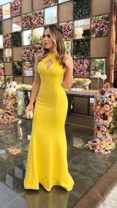 MADRINHAS DEL CASAMENTO ¤ 08- Madrinha bonita vestido de formatura amarelo de Marcela Modas! Contato nº 81-99864-362 ¤ 11/17/17.