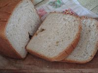 Butter Milk Bread Machine Bread 1 1/4 cups buttermilk, warmed 2 TB butter, softened 1 cup flour 2 cups bread flour 3 TB sugar 1 tsp. salt 2 tsp. yeast Place ingredients in bread machine, in order above or follow the instructions according to your bread machine. Select basic bread...