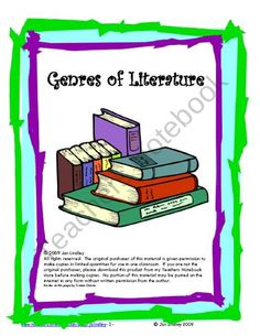 Genres of Literature product from Third-Grade-Etc on TeachersNotebook.com