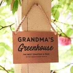Personalised Greenhouse Copper And Rope Garden Sign by Oakdene Designs, the perfect gift for Explore more unique gifts in our curated marketplace. Peg Hooks, Garden Signs, Garden Art, Unique Gifts, Copper, Place Card Holders, Wall Art, Prints, Tomatoes