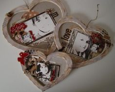 heart shaped picture frame scrap pages