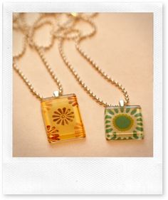glass tile pendants