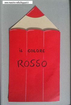 disegni, idee e lavoretti per la scuola dell'infanzia... e non solo Blue Books, School Colors, Shades Of Red, Book Crafts, Color Themes, Holidays And Events, Paper Shopping Bag, Childrens Books, Paper Art