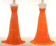orange prom dress long prom dress long bridesmaid by fitdesign, $126.00