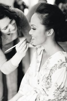 Makeup getting ready photo..