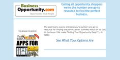 New Opportunities Just Added http://www.businessopportunity.com/lp/allopportunities/