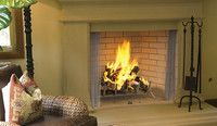 "WRE6842IH Superior 42"" Masonry Outdoor Wood Burning Fireplace with PureFire Catalytic System, Ivory Herringbone Brick"