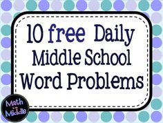 """Thinking about starting a """"Problem of the Day"""" this year?  Try out this FREE resource with 10 word problems in both powerpoint and printable forms!"""